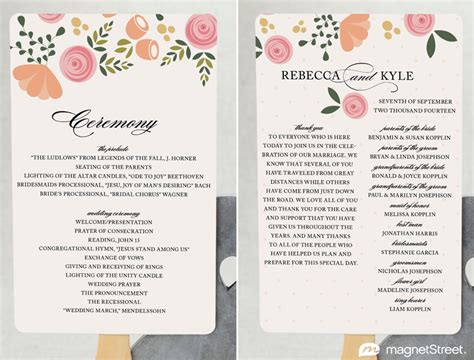 2 modern wedding program and templatestruly engaging