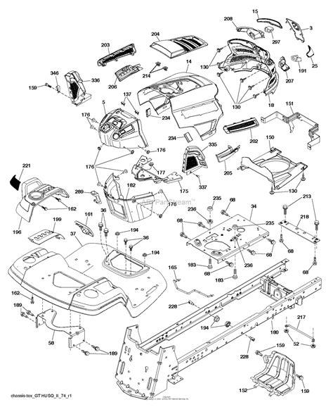 husqvarna lgtk    parts diagram  chassis frame