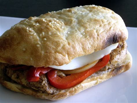 Healthy Balsamic Glazed Chicken And Bell Pepper Sandwiches by Balsamic Glazed Chicken And Bell Pepper Sandwiches Recipe