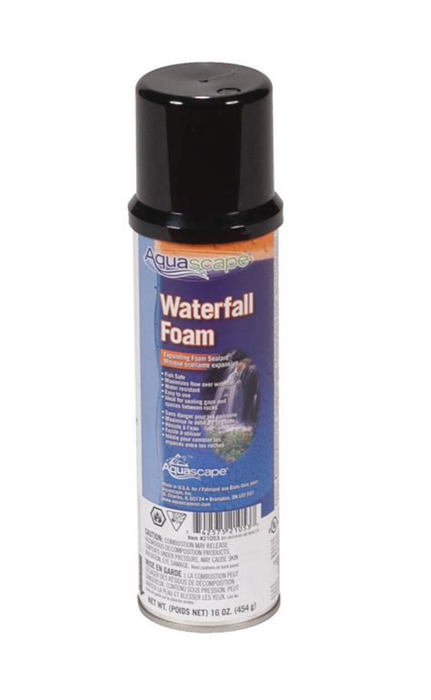 aquascape waterfall foam do it yourself black waterfall foam aquascapes