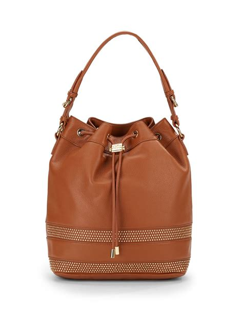 Brown Leather Studded by Badgley Mischka Leather Studded Convertible