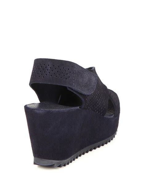 Pedro Shoes Ori lyst pedro garcia frigg perforated suede crisscross
