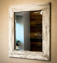 whitewashed reclaimed wood mirror home decor lighting