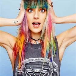 models with hair models rainbow colored hair teen vogue