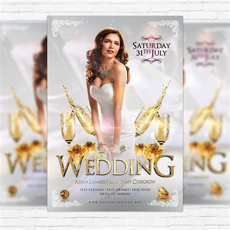 Wedding Flyer by Wedding Premium Flyer Template Cover