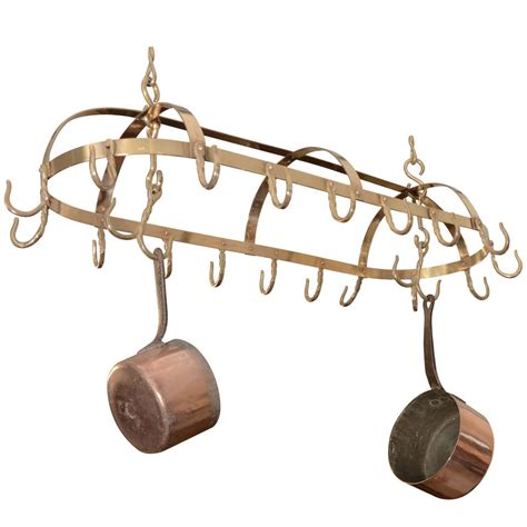 Brass Pot Rack brass pot rack at 1stdibs