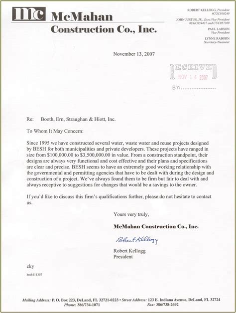 Business Letter Format Construction construction company introduction letter sle pdf