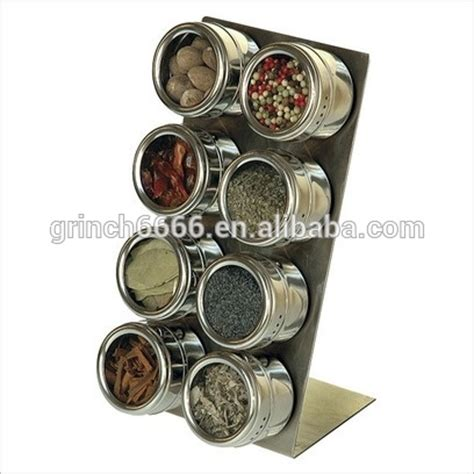 Revolving Spice Rack Without Spices Carousel Spice Rack 8 Auto Measure Jars Without Spices