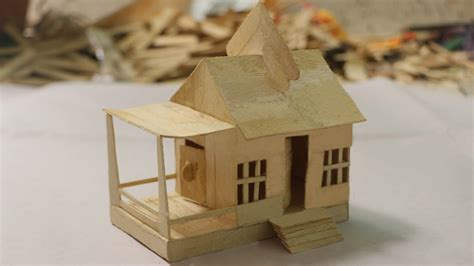 make a home how to make ice cream stick house popsicle stick house