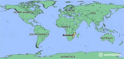 mozambique in world map where is mozambique where is mozambique located in the