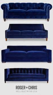 sofa blau 17 best ideas about blue velvet sofa on blue