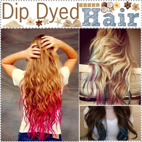 how soon after coloring hair can you wash it dip dyed hair polyvore