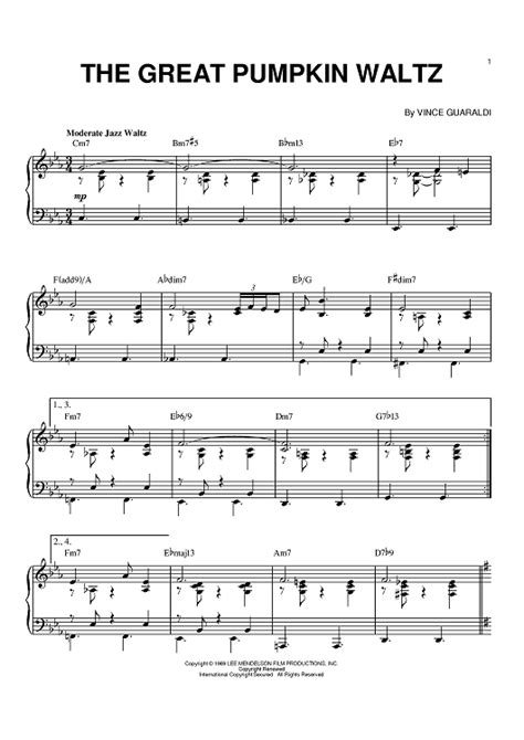 guitar tab the great pumpkin waltz video dailymotion the great pumpkin waltz sheet music for piano and more