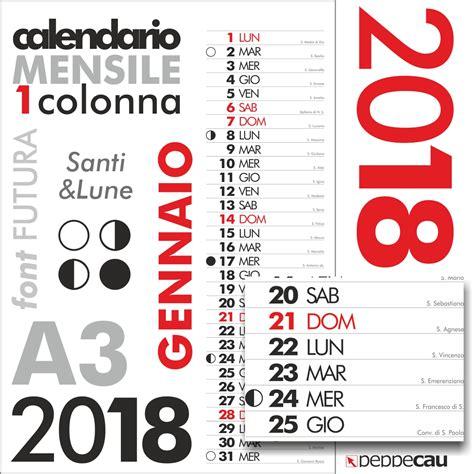 calendario futura calendario 2018 mensile 1colonna santilune futura lun cdr