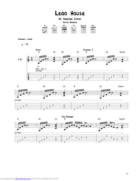 lego house tutorial guitar easy lego house guitar pro tab by boyce avenue musicnoteslib com
