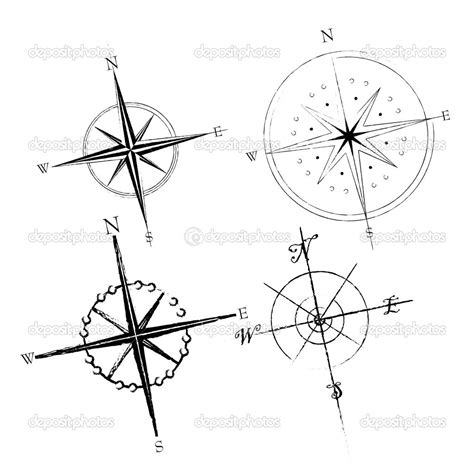 tattoo compass lines compass roses stock illustration 4641423 tattoos