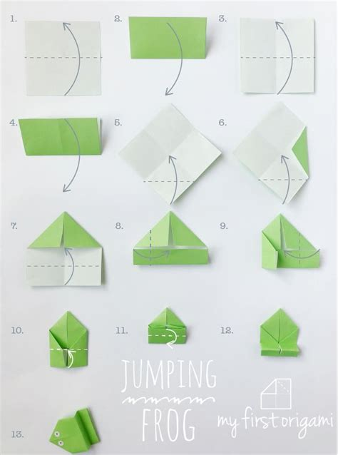 Origami Jumping Rabbit - the best jumping frog origami ideas ori on five