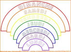 Arc En Ciel 3 Avec Les Jours De La Semaine 224 Colorier