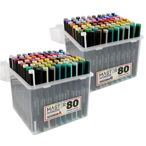 Drawing Markers by 160 Color Artist Illustration Drawing Marker Dual Tip