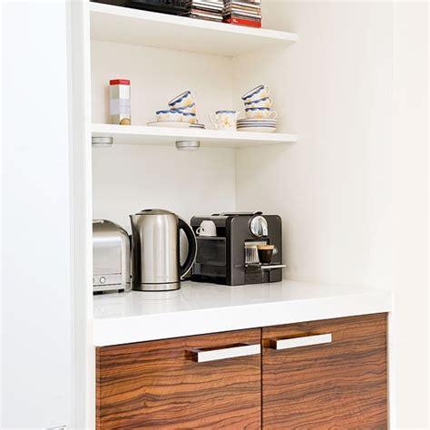 kitchen alcove ideas storage alcove a wood and white hi gloss kitchen