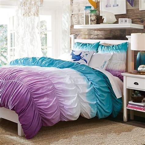 Dip Dye Comforter by Surf Dip Dye Ruched Duvet Cover Sham Pool Purple Pbteen