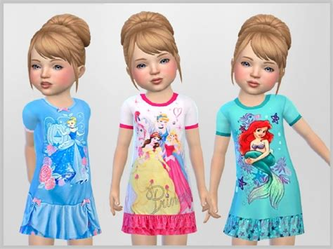 sims 4 custom content toddler the sims resource toddler princess nighties by