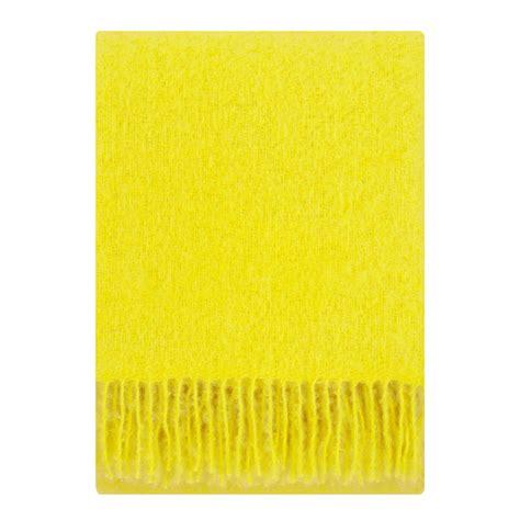 Gelbe Decke by Lapuan Kankurit Saaga Uni Yellow Mohair Blanket