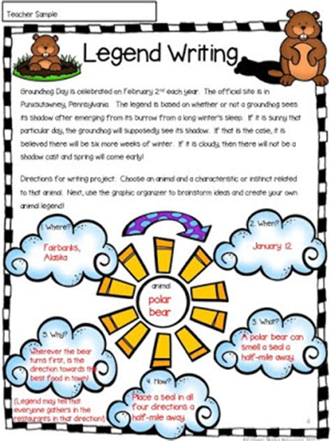writing a legend template rockin resources 12 february ideas for literacy centers