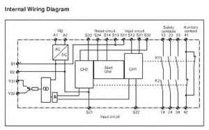 instrument equipment technical information schematic diagram of germany pilz safety relay