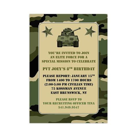 camouflage invitation template printable camouflage invitation template camo