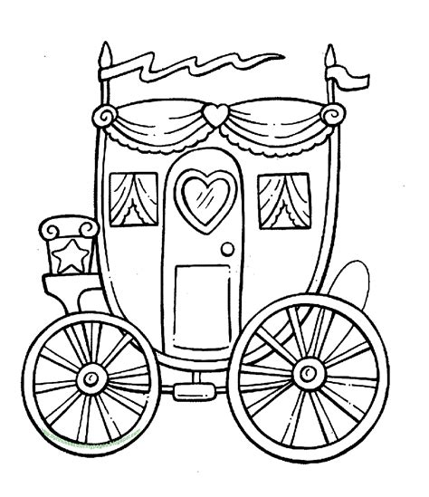 coloring pages of and buggy princess carriage coloring in sheet
