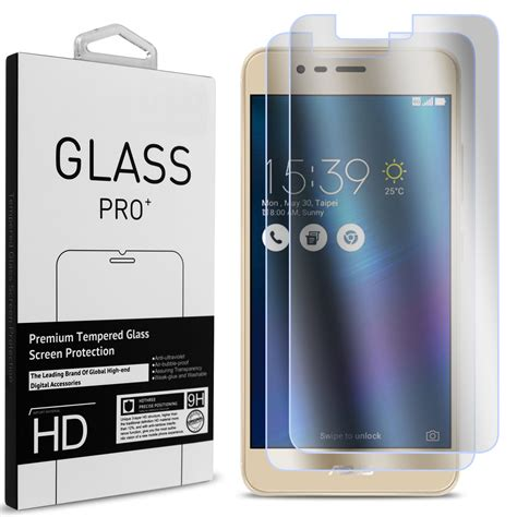 Smile Hd Tempered Glass Asus Zenfone Max asus zenfone 3 max zenfone pegasus 3 tempered glass screen protector 2 pack clear