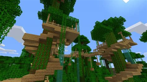 jungle tree house survival minecraft project minecraft pinterest minecraft minecraft tree