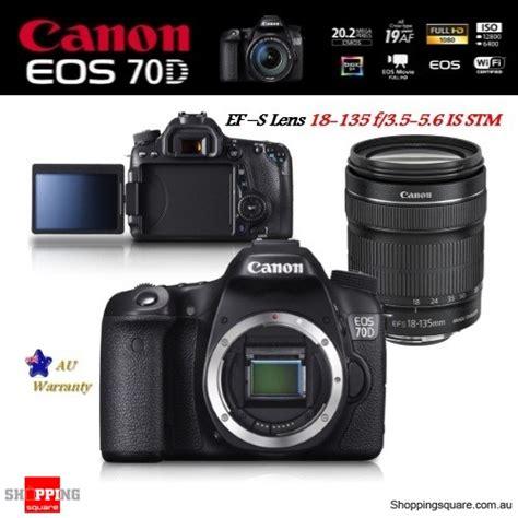 Canon Eos 70d Kit 18 135mm Is Stm Wifi Kamera Dslr Hitam canon eos 70d with ef s 18 135mm f 3 5 5 6 is stm lens wi fi kit shopping
