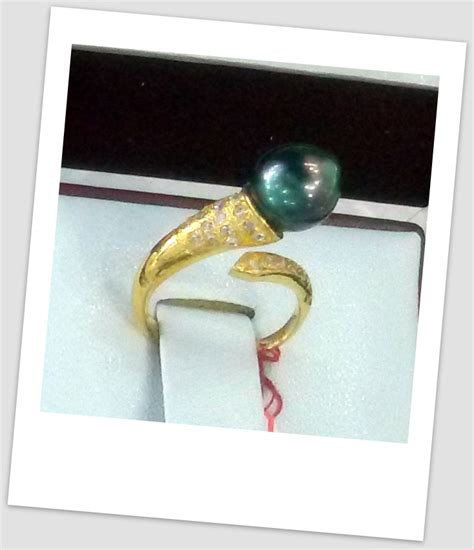 Cincin Mutiara Lombok Perhiasan Accessories 3 handmade gold ring with south sea pearl ctr 063 harga mutiara lombok perhiasan toko emas