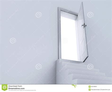 le porte cielo scale bianche 3d alle porte di cielo illustrazione di