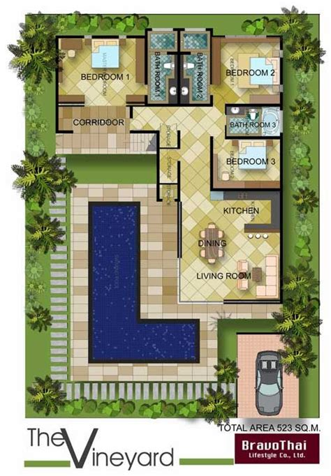l shaped towhnome courtyards u shaped courtyard house plans plan tr8576ms old world european in quot quot l quot quot shape cocoa farm