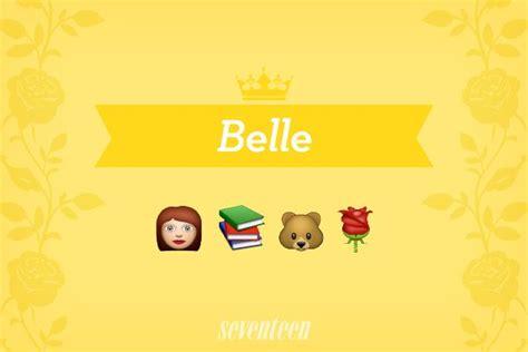 film princess guess the emoji your favorite disney princesses as emojis disney belle
