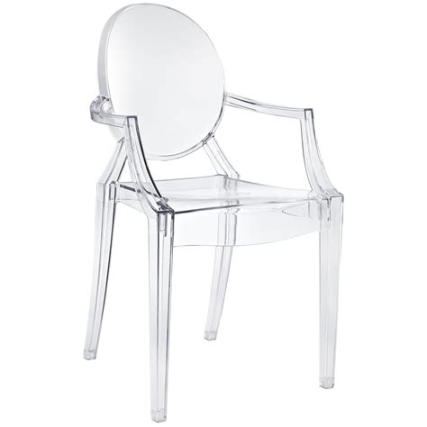 Design Acrylic Dining Chairs Ideas Philippe Starck Style Louis Ghost Arm Chair