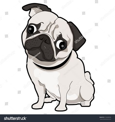pug vector free pug puppy stock vector 152828936