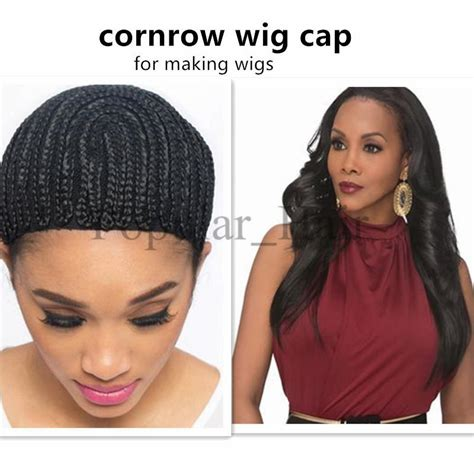 braid hairstyles black women on cap synthetic braiding wig caps for making wigs cornrows wig