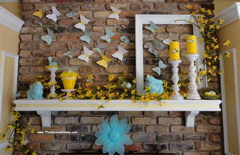 Seasonal Home Decorations | using paper products to help decorate your fireplace for