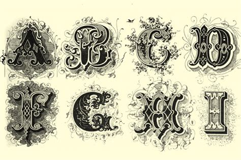 victorian tattoo lettering victorian font exles one aspect of these decorated