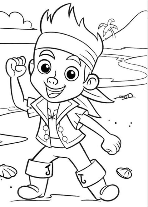 Jake And The Coloring Pages coloring pages for captain jake and the neverland