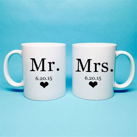 mr and mrs gift bridal shower gift mr and mrs coffee