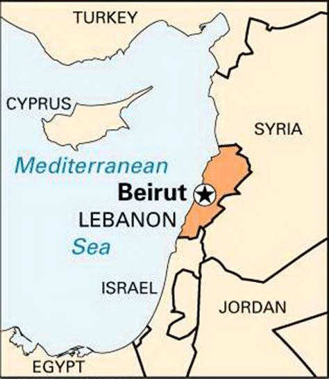 beirut on world map beirut location encyclopedia children s