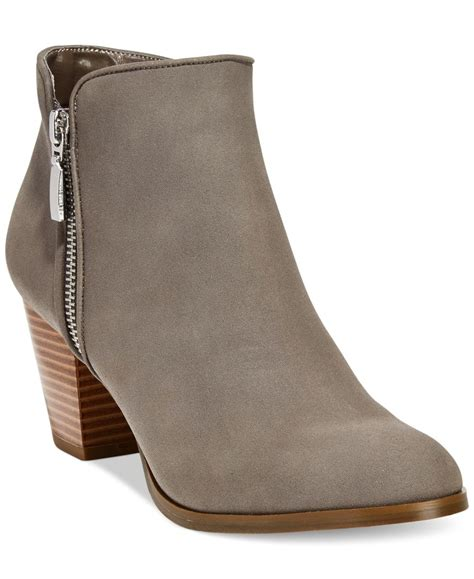 boot style slippers style co jamila zip booties in gray lyst