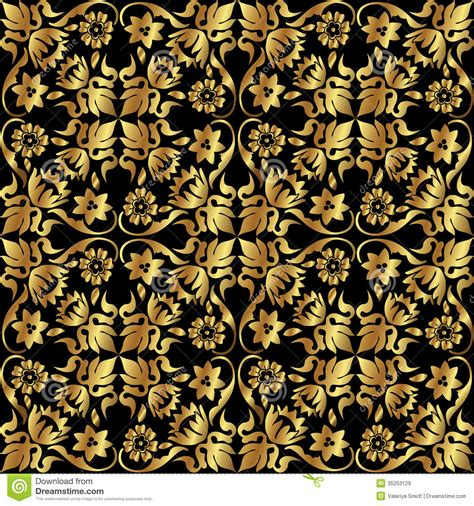 gold pattern floral gold flower pattern royalty free stock images image