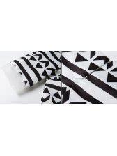 Abstrak Printing Top charming abstract printing half sleeve organza matching