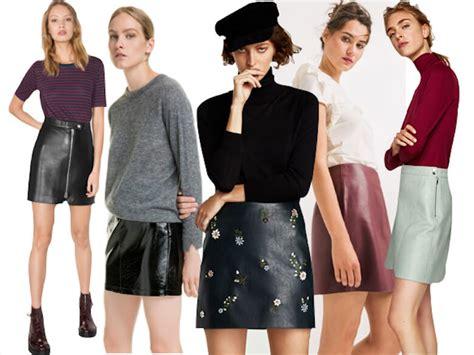 minifaldas de cuero faldas de moda para el oto 241 o e invierno 2017 18